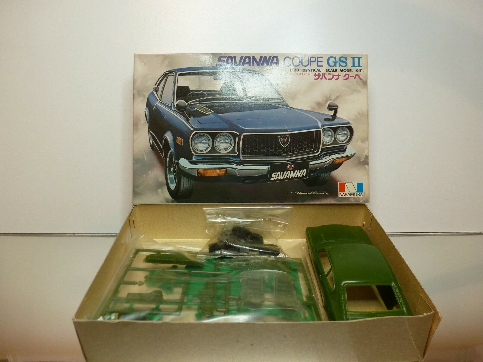 NAKAMURA 4704 KIT (unbuilt) MAZDA SAVANNA COUPE GS II - verde 1 30 - GOOD IN BOX