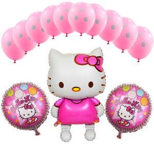 ... LOT DE 13 BALLONS HELLO KITTY ANNIVERSAIRE ENFANT