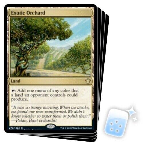 EXOTIC ORCHARD X4 Commander 2020 Magic MTG MINT CARD