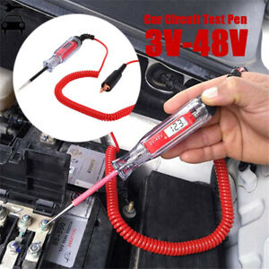 3~48v Digital Electric Circuit Tester Test Light Car Boat Trailer Rv Snowmobile