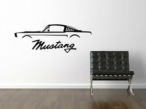 1970 Ford Mustang Coupe car sticker decal wall graphic mural