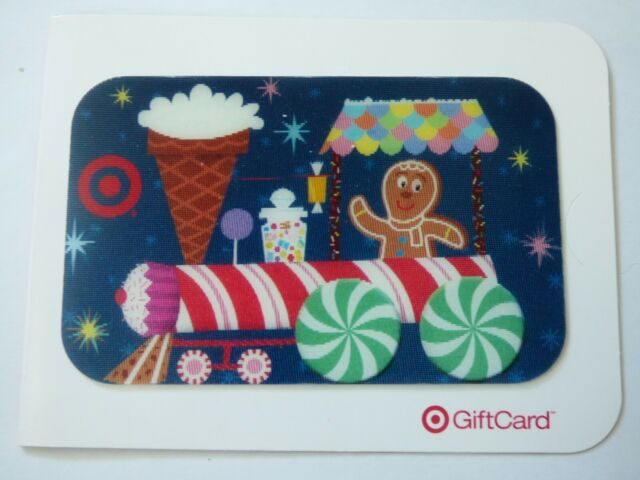 Target Gift Card Lenticular Christmas / Gingerbread Man, Train - 2007 - No Value
