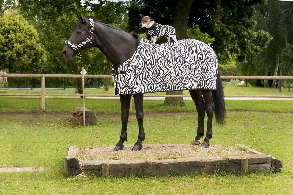 BNWT Stunning Equitheme Equestrian Horse Zebra Polar Summer Fleece Rug