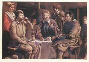 Postcard-Les-Nain-freres-Repas-de-paysans-painting