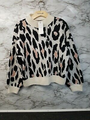 Nikka K Women S Pullover Cheetah Print Sweater Size M Mock Neck Nwt U Ebay