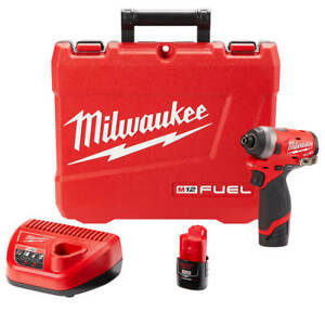Milwaukee-2553-22-12-Volt-1-4-Inch-M12-FUEL-Hex-Impact-Driver-Kit