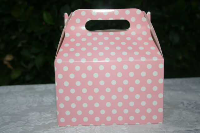 Polka Dot Minnie Mickey Birthday Treat Goody Favor Boxes Bags Party Supply Decor