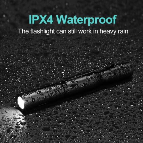 5PCS XPE-R3 LED Flashlight Clip Mini FlashLight Penlight Portable Pen Torch Lamp