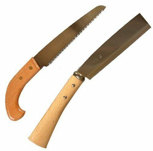 Japanese BOHKEN SAW Nata cutter Nokogiri carpenter Set 165 180mm with Case Japan