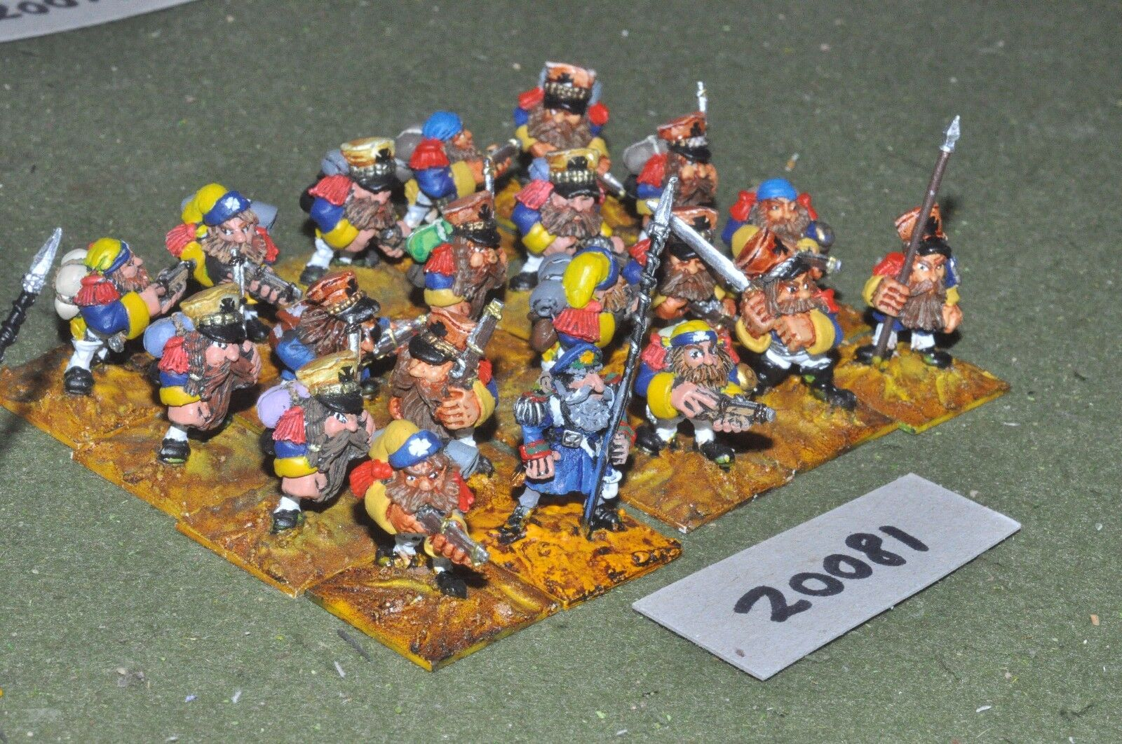 28mm flintloque fantasy dwarf infantry 20 figures {16} (20081)
