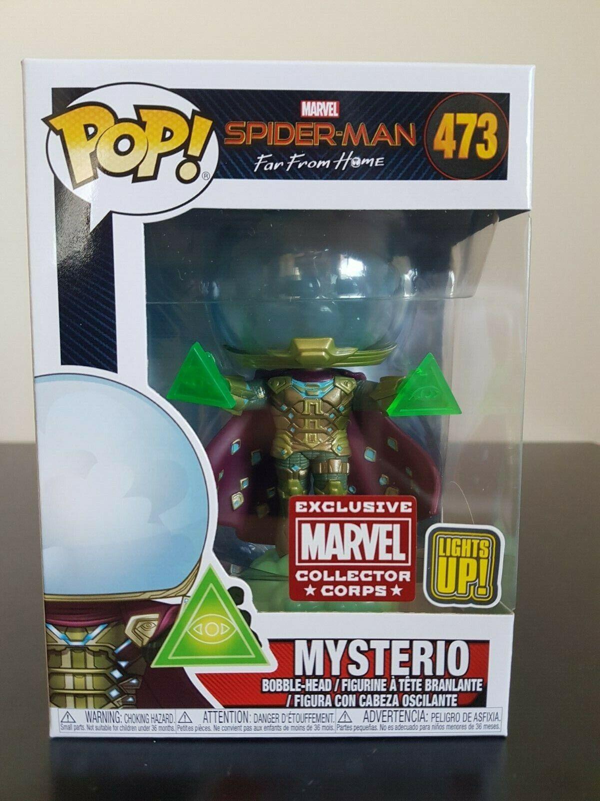 Marvel divertiessitoko Pop  Mysterio Light Up  Marvel Collector Corp  No. 473