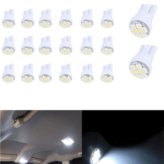 20PCS T10 194 168 158 Blue 8SMD LED Car Truck Light Bulbs For Chevrolet//Honda