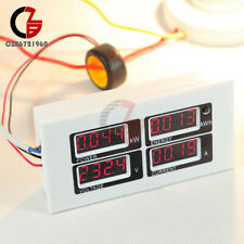 100a Ac 80 260v Digital Led Volt Amp Power Meter Kwh Time Watt Voltmeter Ammeter