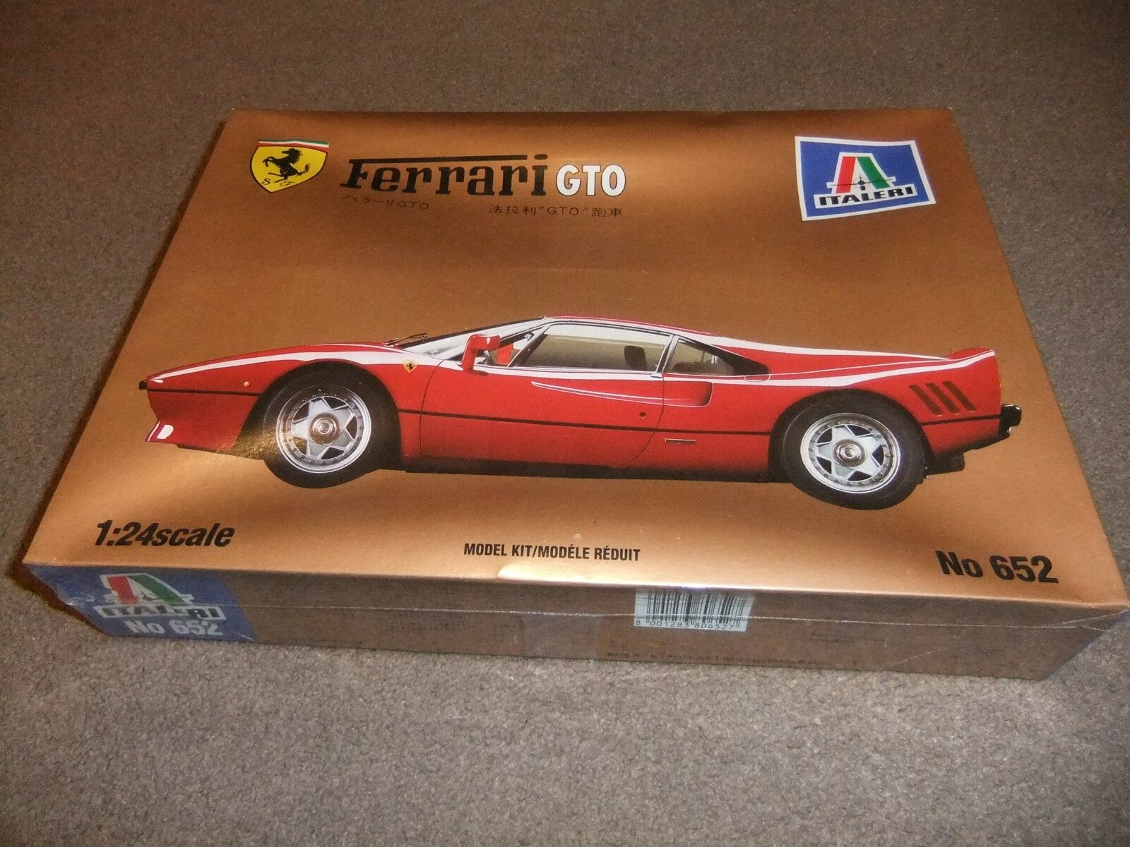 Italeri 652 - 1 24 Ferrari GTO - Factory Sealed
