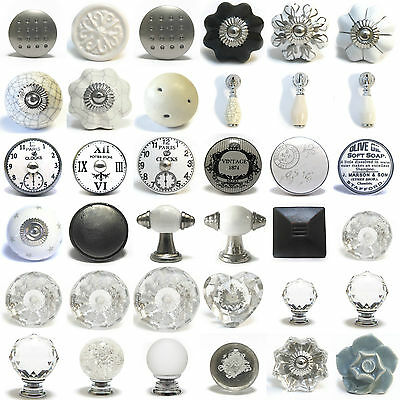 Huge selection of discounted oew cupboard knobs ceramic crystal glass door knob