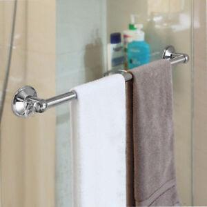 Towel Bar Bathroom Rack Chrome Bath Holder 18 Inch Insta Mount Wall Sturdy  Brass