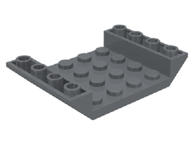 LEGO Train Parts 4x Inverted 45 6 x 4 Double Slope 60219 Dark Bluish Grey NEW