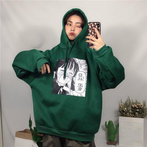 Women Girl Japanese Harajuku Hooded Sweatshirt Top Pullovers Kawaii Loose Cute