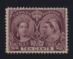 Canada-Sc-57-1897-10c-brown-violet-Diamond-Jubilee-Mint-VF-NH