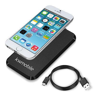 kwmobile Wireless Lade Station für Apple Iphone 6 6S Schwarz Lade Gerät Qi 5W
