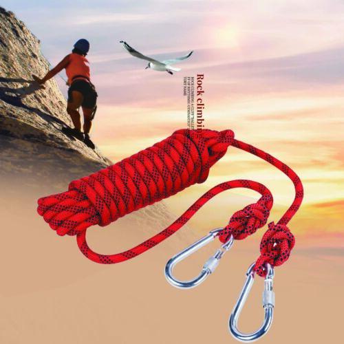 Karabinerhaken Bergsteigen-Seil❤ 2m 12mm Kletterseil Sicherheitsseil dynamisch