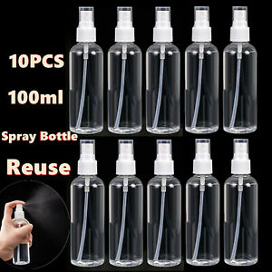 10PCS-100ml-Travel-Transparent-Plastic-Perfume-Atomizer-Empty-Spray-Bottle-Reuse