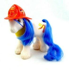 My-Little-Pony-MLP-G1-Vtg-Firefighter-Hose-Chief-Big-Brother-Hasbro-Hat-Bandana