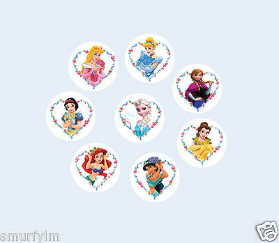 30 FROZEN LOGO  CUPCAKES TOPPERS 3.75CM CUT OUT   NEW***