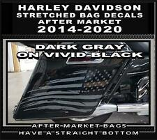 Black Reflective Tattered American Flag Saddlebag Decal for Harley Davidson