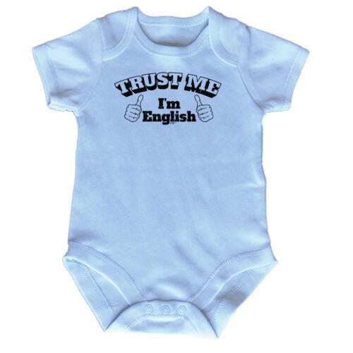 FUNNY BABY Infants Babygrow ange combinaison-Trust Me Im anglais