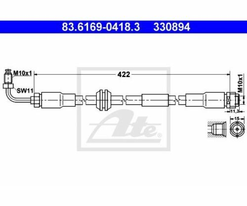 ATE 83.6169-0418.3 Freni per AUDI a6 Avant a6 a4 Cabriolet a4 Avant