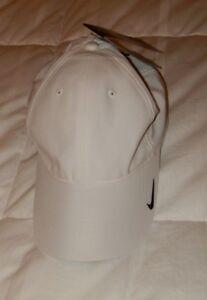 Nwt Nike Hat White With Black Swoosh Dri Fit Baseball Cap