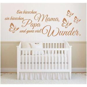 Wandtattoo-Spruch-Ein-bisschen-Mama-Papa-Wunder-Geburt-Sticker-Wandaufkleber-3