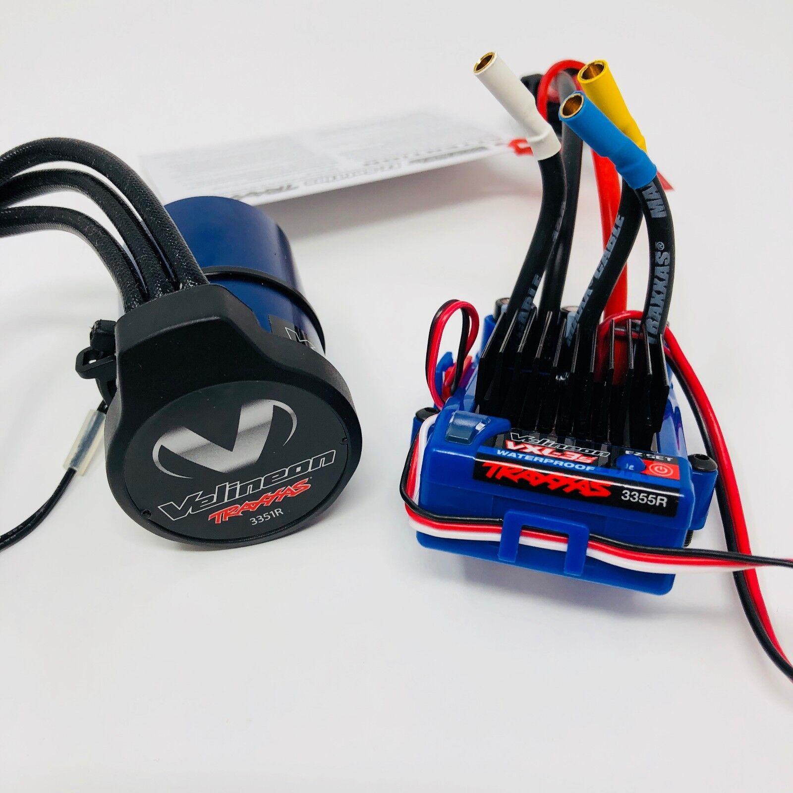 Traxxas Velineon Waterproof Brushless Motor + VXL - 3S ESC System 3355X 3351R