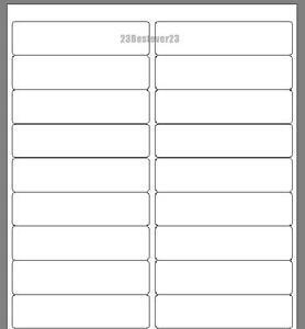 200-BLANK-1-x-4-White-Address-Laser-return-Mailing-Labels-10-SHEETS