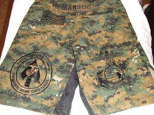 8bc13cf4c9 USMC MARINES MARSOC MAR-SOC MARPAT MMA PT BOARD SHORTS FIGHT SHORT ...