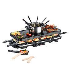 GOURMETmaxx Raclette und  Fondue Set in Schwarz