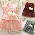 Children Cute Newborn Baby Girls Bow Tulle Tutu Party Dress Clothes Outfits