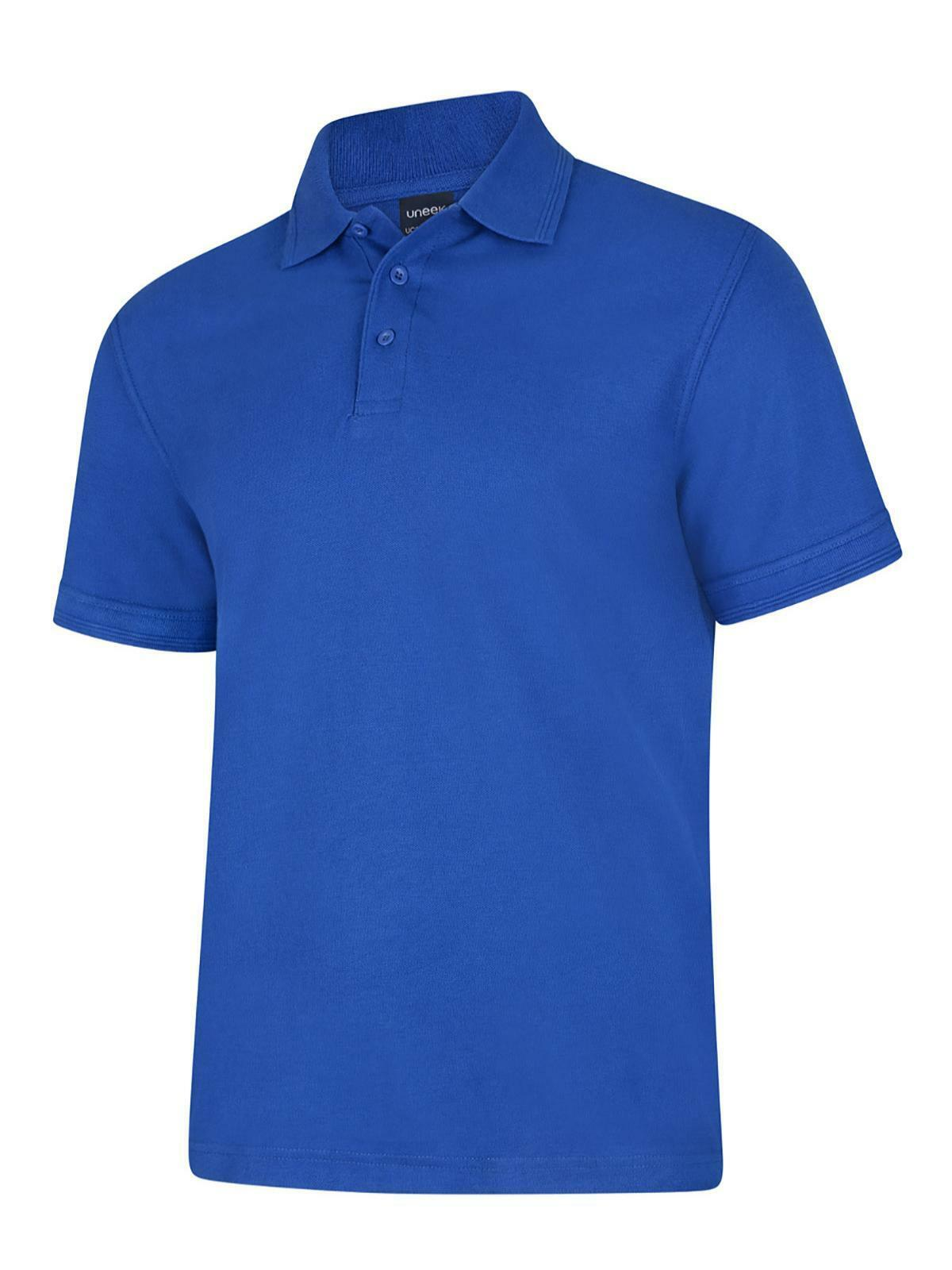 Uneek Deluxe Polo Shirt Men/'s Casual Smart Top Work Office Clothing Wear UC108