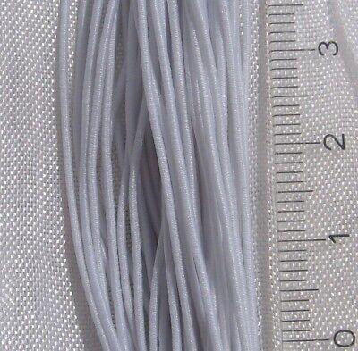 Lot de 5 mètres de fil Blanc 2mm cordon élastique stretch nylon mercerie *C247.5