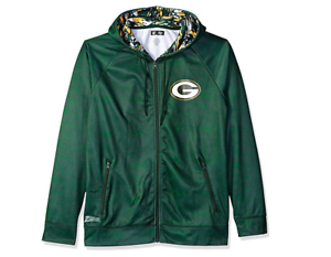 best service 8f532 99b45 Details about Zubaz Men's NFL Green Bay Packers Zip Up Hoodie With Camo  Accents