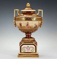 Royal Vienna Porzellan Potpourri Vase Lupenmalerei Urteil des Paris & Achilles