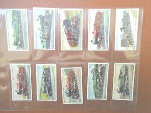 1930 Wills RAILWAY LOCOMOTIVES railroad  trains set cards Tobacco Cigarette  #2