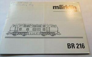 Manual For Märklin BR 216 With Digitalteil And Maintenance Manual
