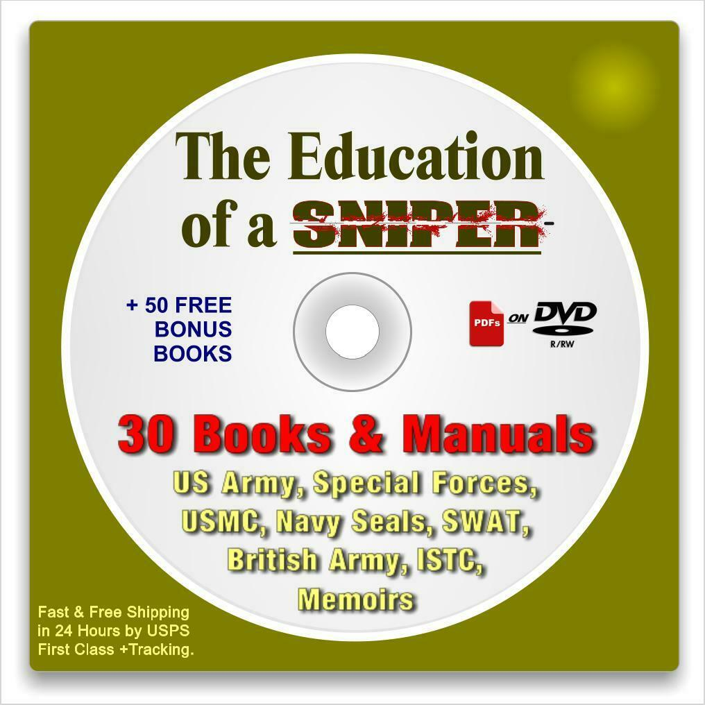 The Education of a Sniper: 80 Books CD-rom, Military, Police, Law Enforcement 5
