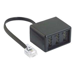 ISDN Adapter, RJ45 8/4 Stecker - TAE NFN Buchsen, 0,2 m, Fax Verbinder, Analog