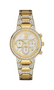 Wittnauer-Women-039-s-WN4069-Quartz-Chronograph-Gold-Tone-Bracelet-32mm-Watch
