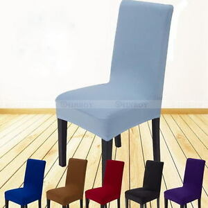 Stretch-Dining-Chair-Covers-Chair-Protector-Slipcover-Decor-Spandex-14-Colour