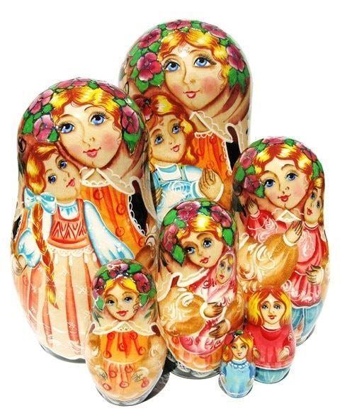 Mère 7-pièce Russe Babushka Matryoshka Empilage POUPEE RUSSE eau