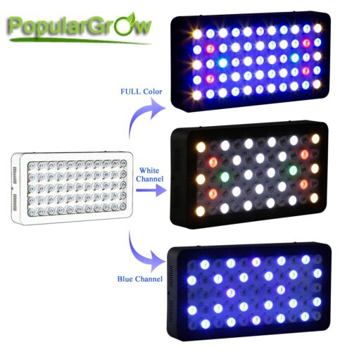 PopularGrow 2PCWIFI Dimmable 165WFull Spectrum LED Aquarium Light for Reef Coral